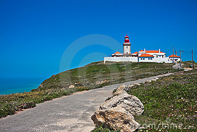 Lighthouse in Portugal ocean cape