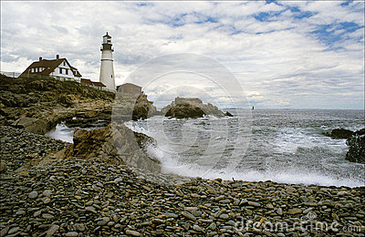 Lighthouse Protects During Storm