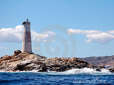 Lighthouse in rock