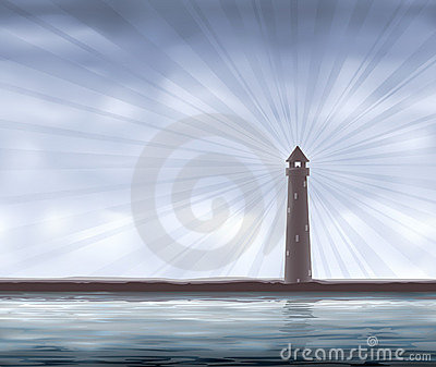 Lighthouse on the seashore