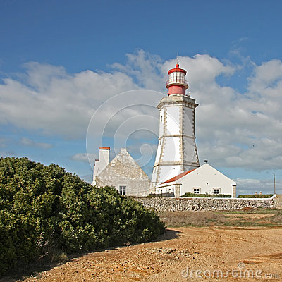 Lighthouse in Sesimbra, Portugal.