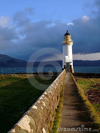 Lighthouse in Sound of Mull, Scotland