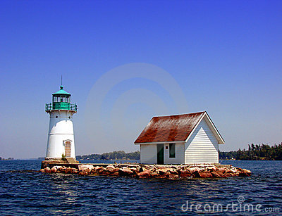 Lighthouse on the St Lawrence River in New York