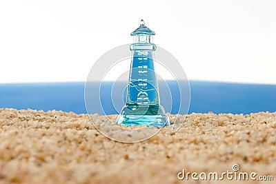 Lighthouse before a turbulent sea
