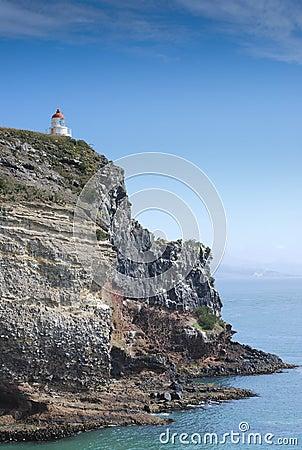 Lighthouse view from the albatross centre, Dunedin