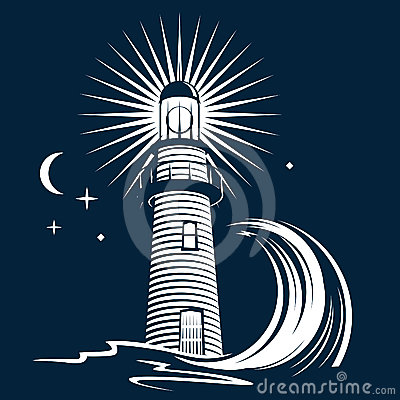 Free Lighthouse & Wave Royalty Free Stock Images - 24395699