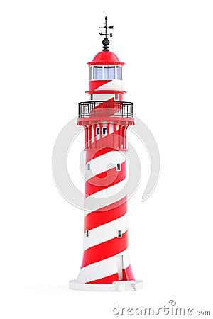 Lighthouse on white background