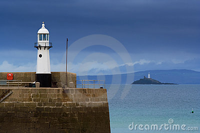 Lighthouses at St. Ives