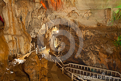 Lighting in cave