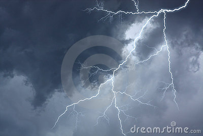 The lighting in dramatic stormy sky