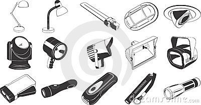 Lighting equipment icons