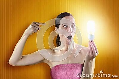 Lighting girl