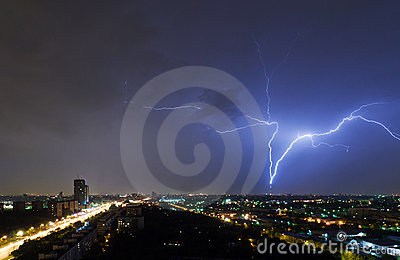 Lighting over Moscow