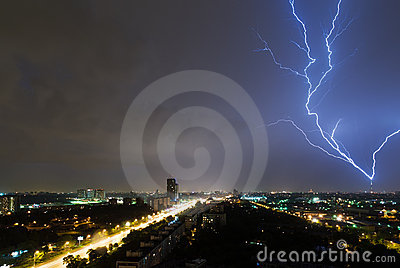Lighting over the moscow