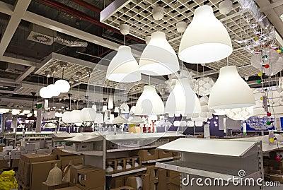 Lighting sales area