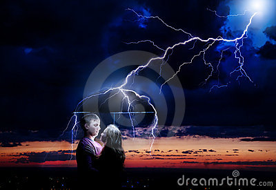 Lighting strikes couple