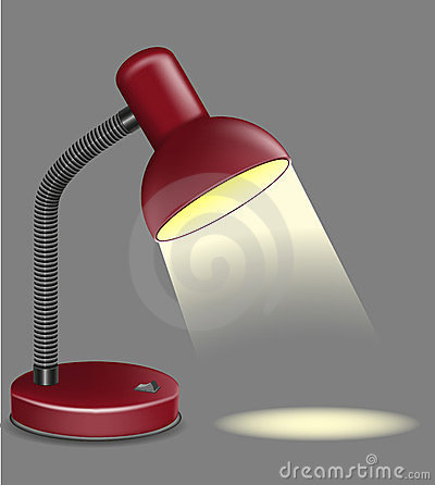 Lighting table lamp vector illustration