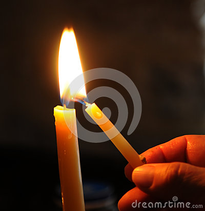 Free Lighting The Candle Stock Photo - 47885050