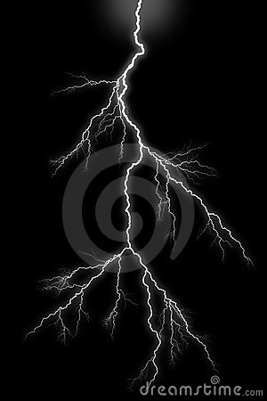 lightning bolt on black background stock image image
