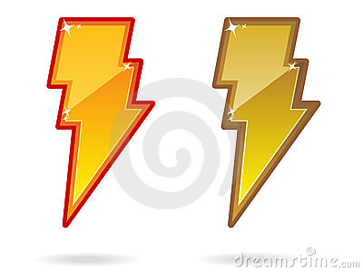 Lightning Bolt Icon EPS