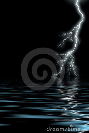 Free Lightning By The Sea Stock Image - 18862171