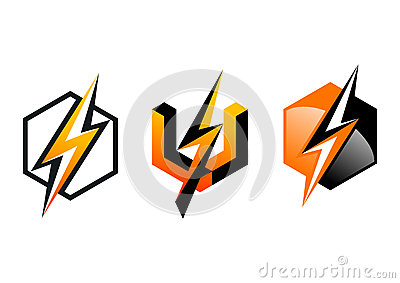 Lightning Logo Symbol Thunderbolt Cube Electricity