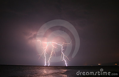 Lightning At Open Sea