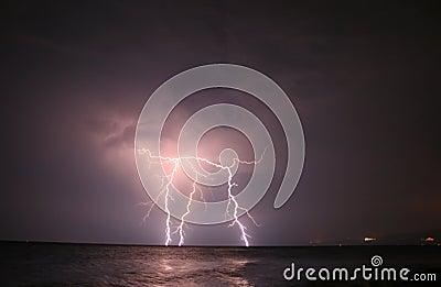 Lightning At Open Sea