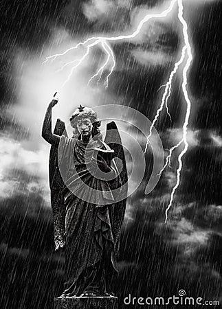 Lightning Strikes the Angel Gabriel