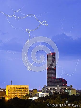 Lightnings over the city