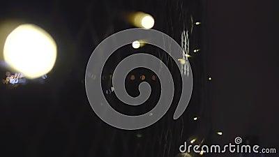 Lights on balcony. stock footage