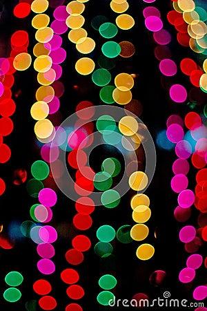 Lights in blur