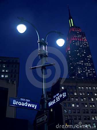 Lights On Broadway Editorial Photography