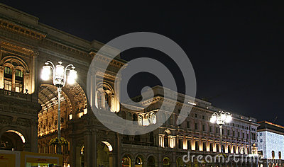 Lights in Duomo Square during Christmas holidays, Milano Editorial Photography