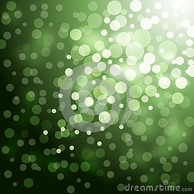 Lights on green background
