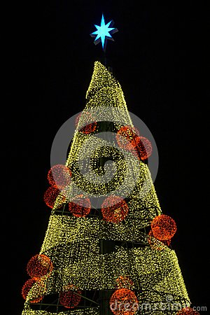Free Lights On A Christmas Tree Stock Images - 118544224