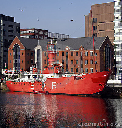 Lightship - Albert Dock - Liverpool - England Editorial Photography