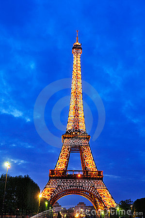 Lightshow at the Eiffel Tower Editorial Image
