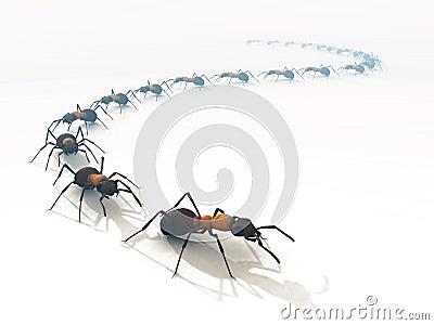 ligne-blanc-des-fourmis-3d-de-file-d039;attente-d039;isolement-thumb11717133.jpg