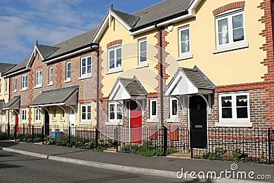 Ligne de nouvelles maisons ou de maisons