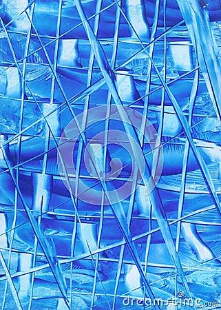 Lignes d abstrait bleu