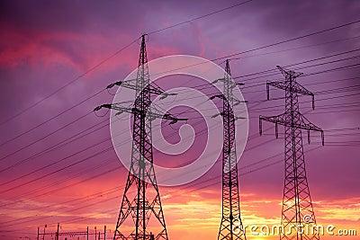 Lignes électriques à haute tension