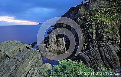 Ligurian rocks landscape