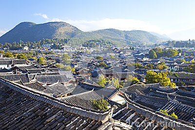 Lijiang old town in the morning, China
