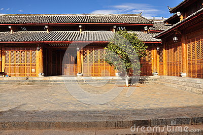 Lijiang traditional house. Yunnan, China