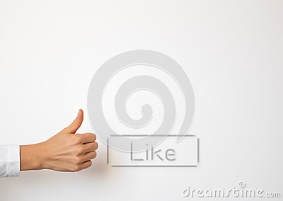 Like button and thumb up