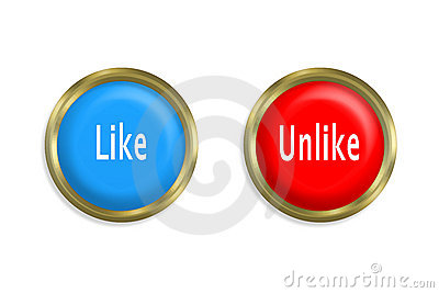 Like button and unlike red