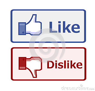 Like and dislike button Editorial Stock Image