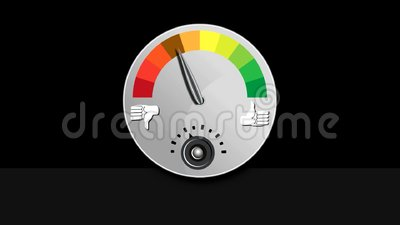 Like Dislike Meter. Footage of a like dislike rating meter vector illustration