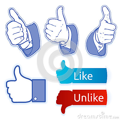Like facebook symbol Editorial Stock Photo